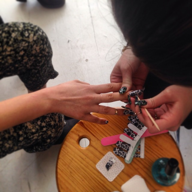#BTS custom nail wraps by @appliq 💅 Design your own at  www.Appliq.me  💅 #Brooklyn (at Antoinette)