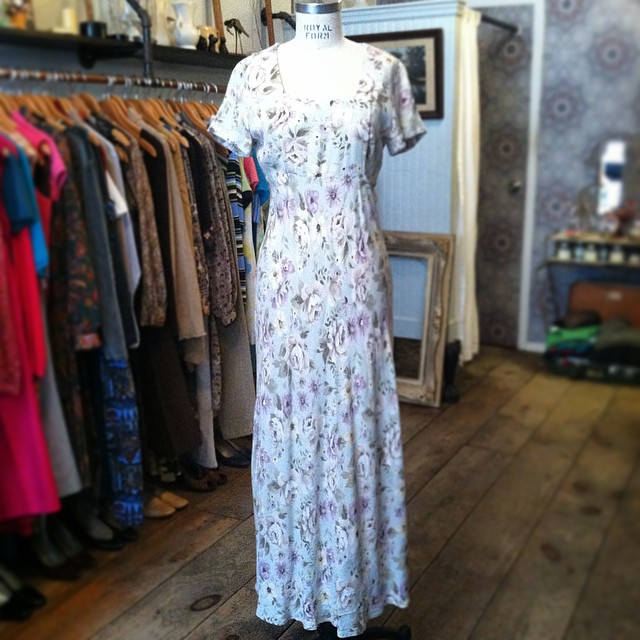Don't let these low temps get you down #Spring is in the air 🐣🌷 #Vintage early #1990s maxi dress by #AllThatJazz size S $60 (at Antoinette)