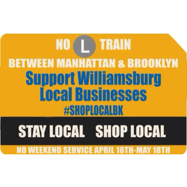 As many of you #Williamsburg locals know the #Ltrain sucks already well it's gonna suck even more b/c the #MTA is shutting down service from #Manhattan to #Brooklyn for 5 weekends straight!! We're teaming up w/our #local businesses @millyandearl & @slapback_nyc & offering $2.75 off each purchase (which is the price of a single ride #metrocard ) so come show your support this weekend & #ShopLocal #StayLocal #ShopLocalBK (at Antoinette)