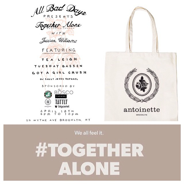 We're so psyched to be a sponsor for tomorrow's #AllBadDays event! 💥 We're giving away an #Antoinette gift certificate for the raffle plus, if you RSVP on the @allbaddays Insta account (link on their bio) you have chance to win a FREE Antoinette Totebag! ✌️ (at Antoinette)