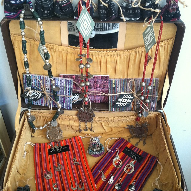 A suitcase filled with #Vintage #Guatemalan jewels 🙌 $25-$126 #SterlingSilver  (at Antoinette)