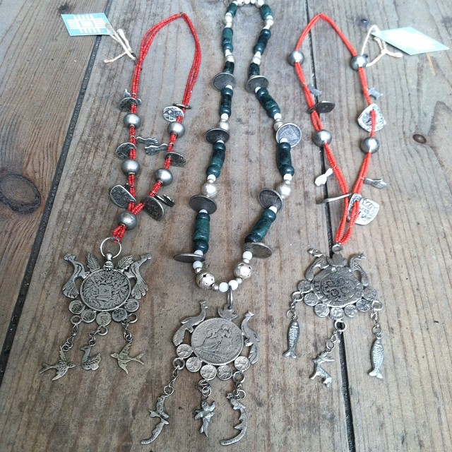 Also part of our #LaSelva #Popup are these traditional #Chachal necklaces which are worn in religious processions by the Maya in the highlands of #Guatemela ✨🙏✨ #antoinettevintage #laselvaclothing #vintage #antique #oneofakind #madeinguatemela #williamsburg #brooklyn #thriftandstyle (at Antoinette)