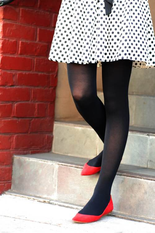 1baa08b84 Tabbisocks Opaque Color Tights in Black — Antoinette Brooklyn