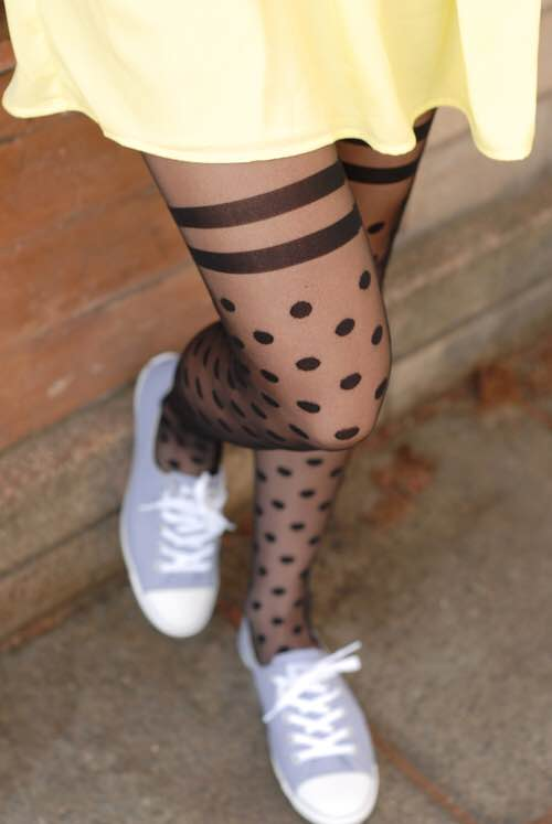 fe79a2288cc Tabbisocks Secrets Dots Over The Knee Sheer Tights — Antoinette Brooklyn