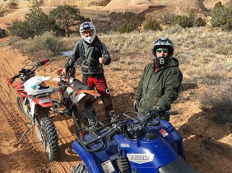 CCA board members Lee Cooper and Tony Ippolito enjoying the trails in Rabbit Valley!