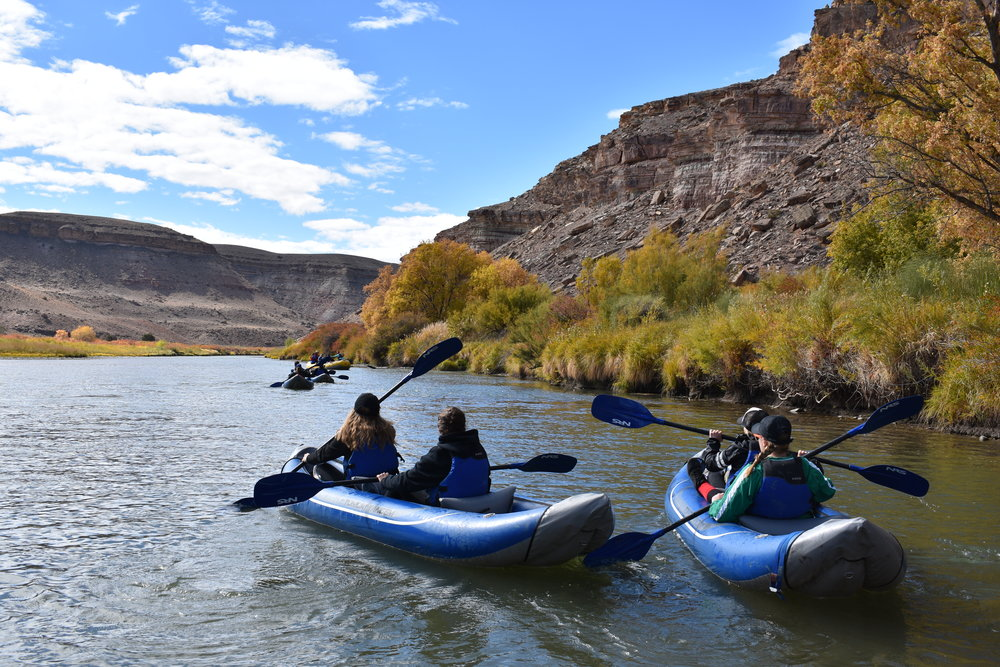The placid waters of the Gunnison River offer great access to the oldest dwelling in Colorado