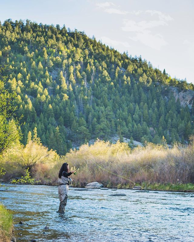 This time last year I was fly fishing in Colorado. Who wants to go this year? That's my mom! #🤗 #🎣
