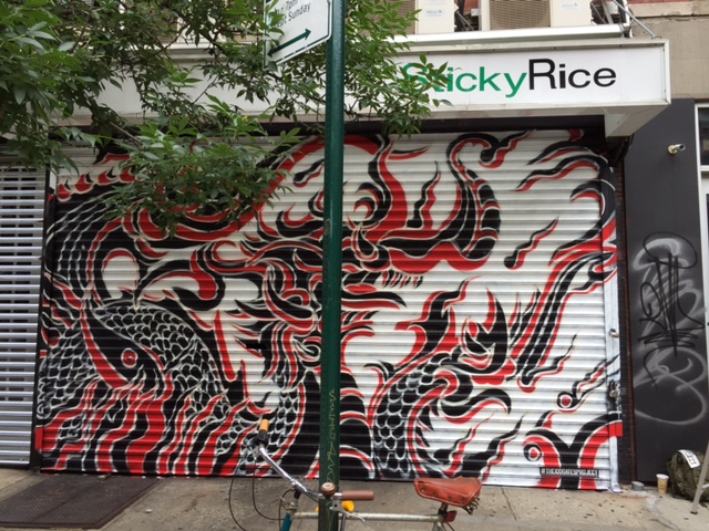 Sticky Rice @ 85 Orchard Street    Artwork by  Jack Aguirre