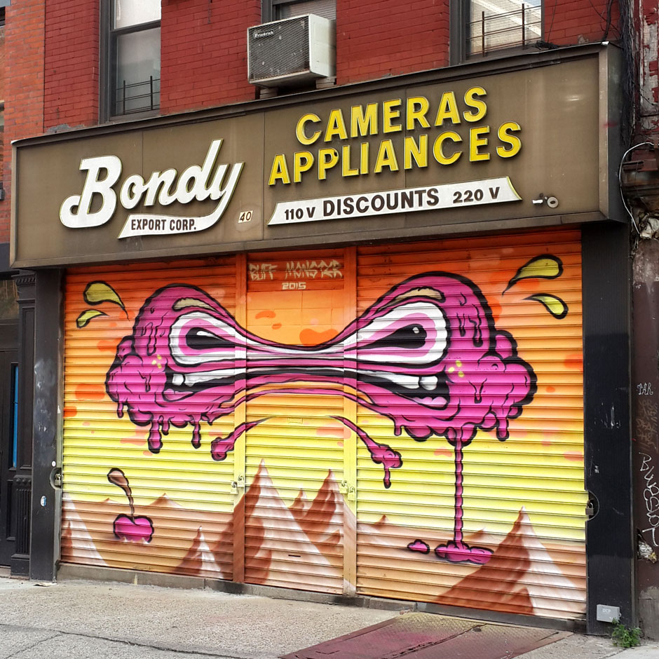 Bondy Export Corp @ 40 Canal Street    Artwork by  Buff Monster