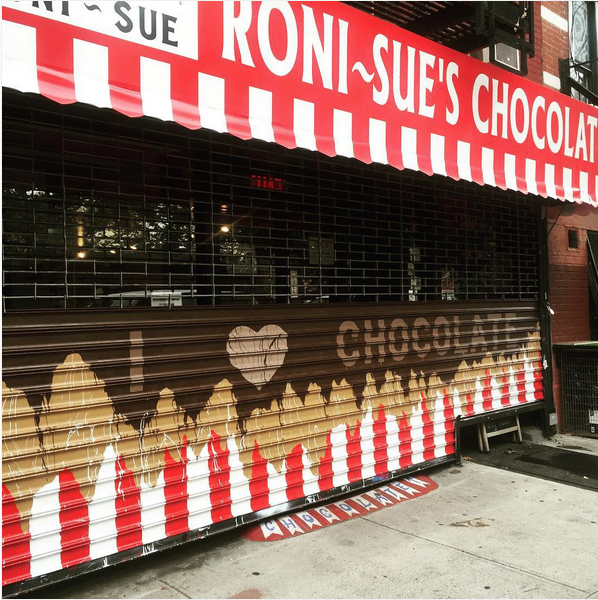 Roni-Sue's Chocolates @ 148 Forsyth Street    Artwork by  Theresa Kasun