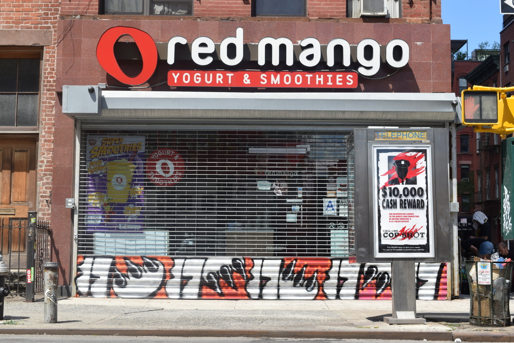 Red Mango @ 145 Allen Street     Artwork by  Claw Money  +  Miss 17