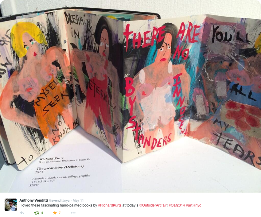 On Twitter about Accordion book at the 2014 NYC Outsider Fair