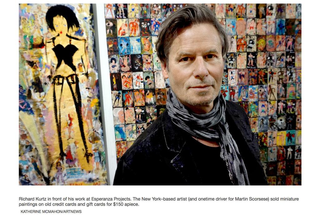 ARTNews • Richard Kurtz in the Esperanza Projects Booth at the 2019 New York Outsider Art Fair