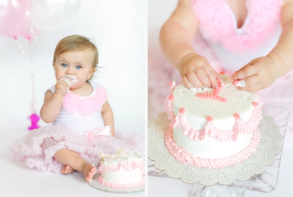 1st bday cake smash girl