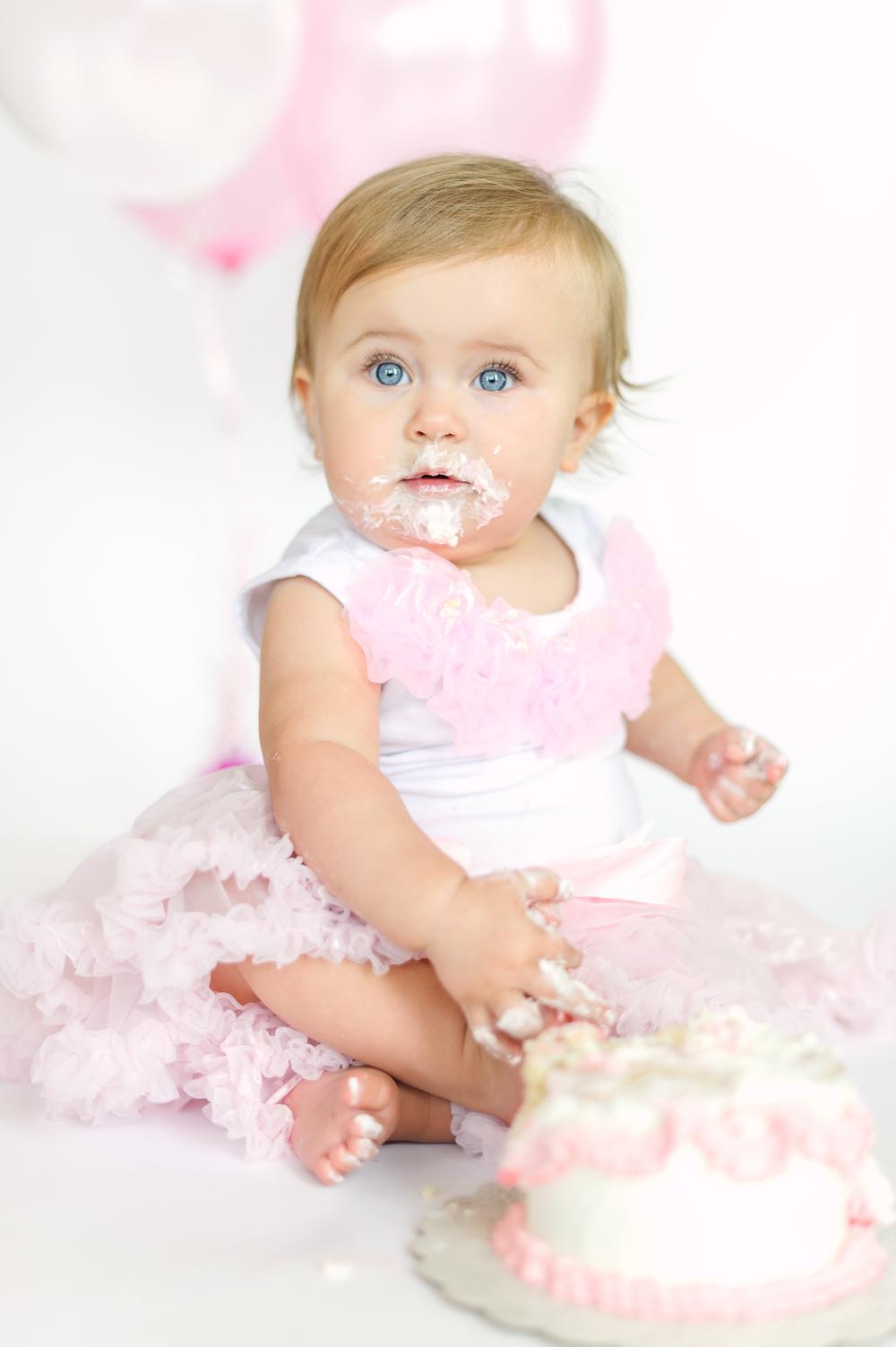 Baby Girl Cake Smash Pink Cake