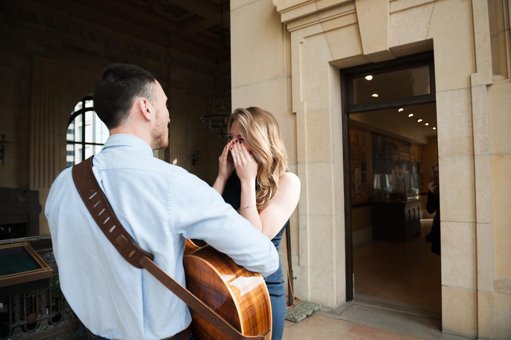 surprise proposal at union station