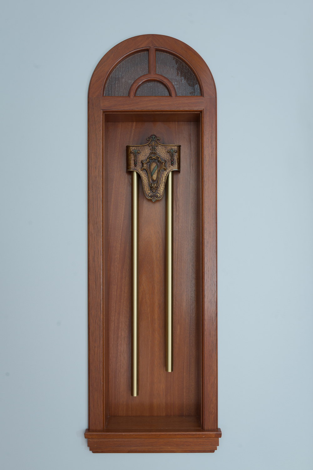This beautiful doorbell housing was proudly designed and built in our Ventura woodshop!