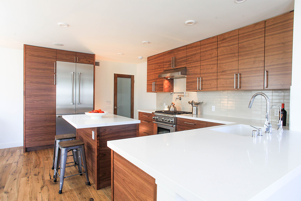 Custom Walnut Kitchen Cabinetry