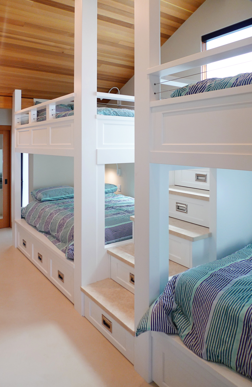 Custom 9 Person Beach House Bunk Bed Able And Baker Custom Cabinetry