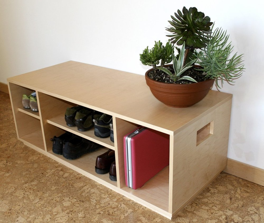 Maple Storage Bench
