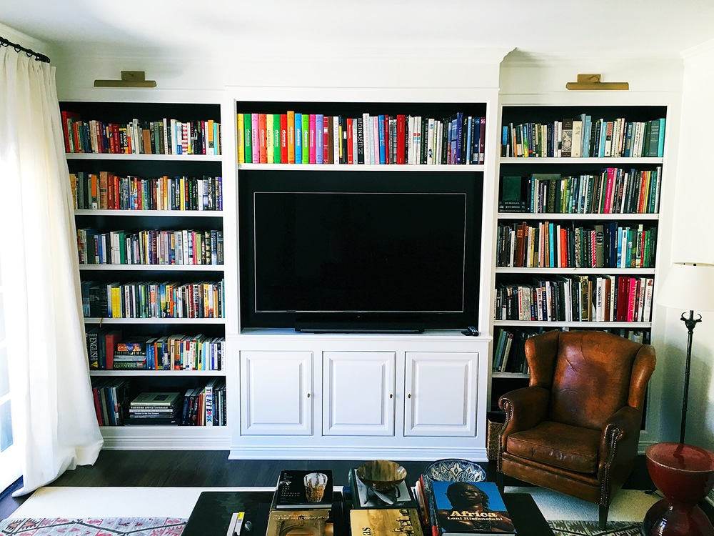 Custom Entertainment Center and Bookshelves