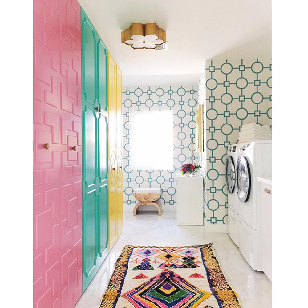 Palm Springs Inspired Laundry Room