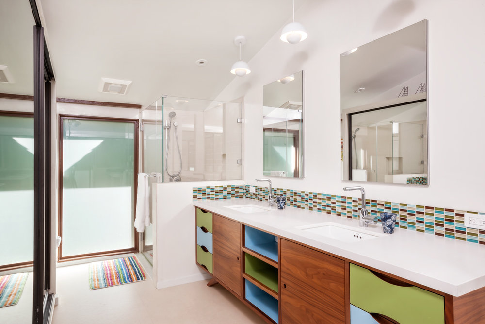 Mid Century Modern Inspired Bath Vanity