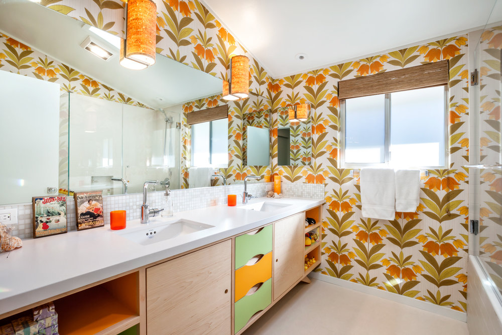Custom Mid Century Modern Inspired Bath Vanity