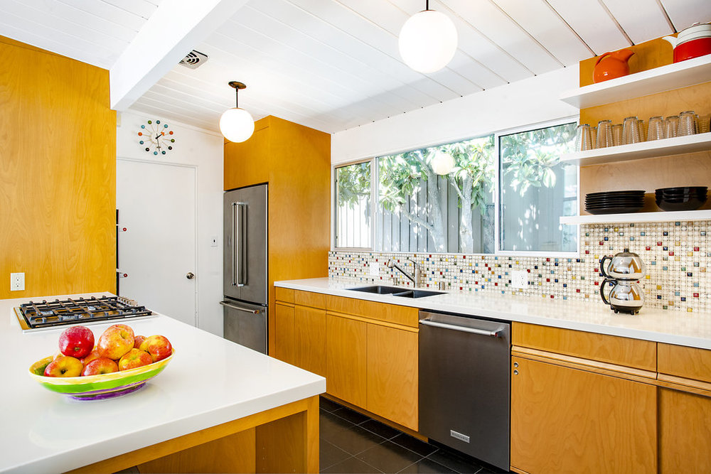 Custom Kitchen Cabinetry for So Cal Eichler Home