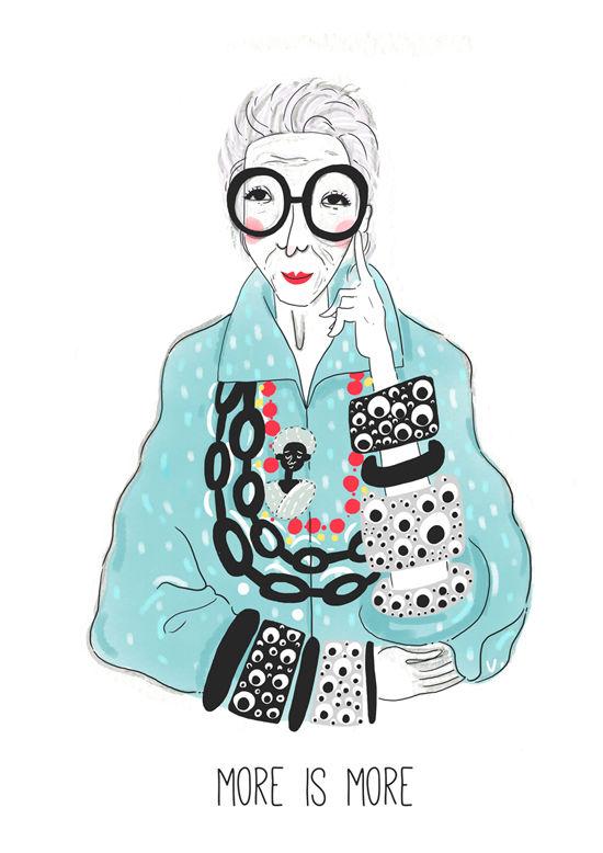 Iris Apfel Illustration