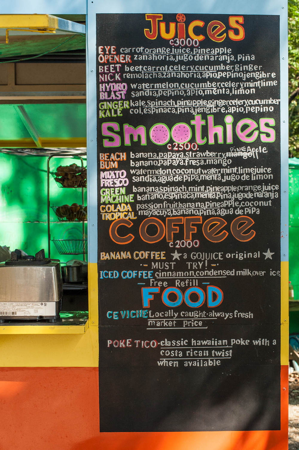 go-juice-menu-nosara-costa-rica