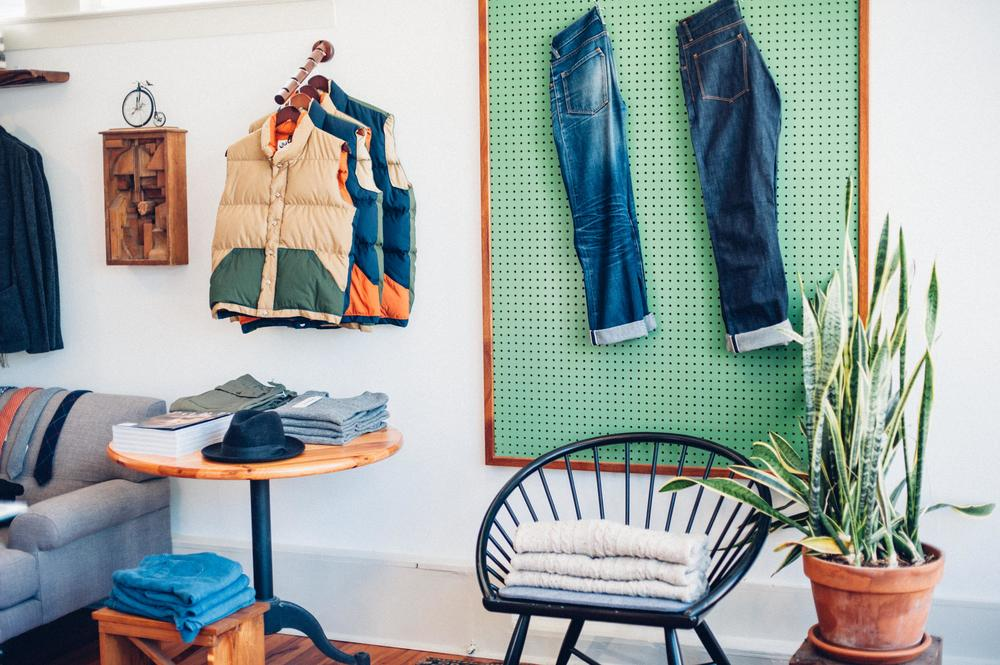 Charleston Shopping Indigo and Cotton