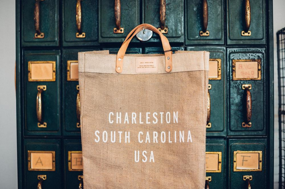 Indigo and Cotton Charleston Bag