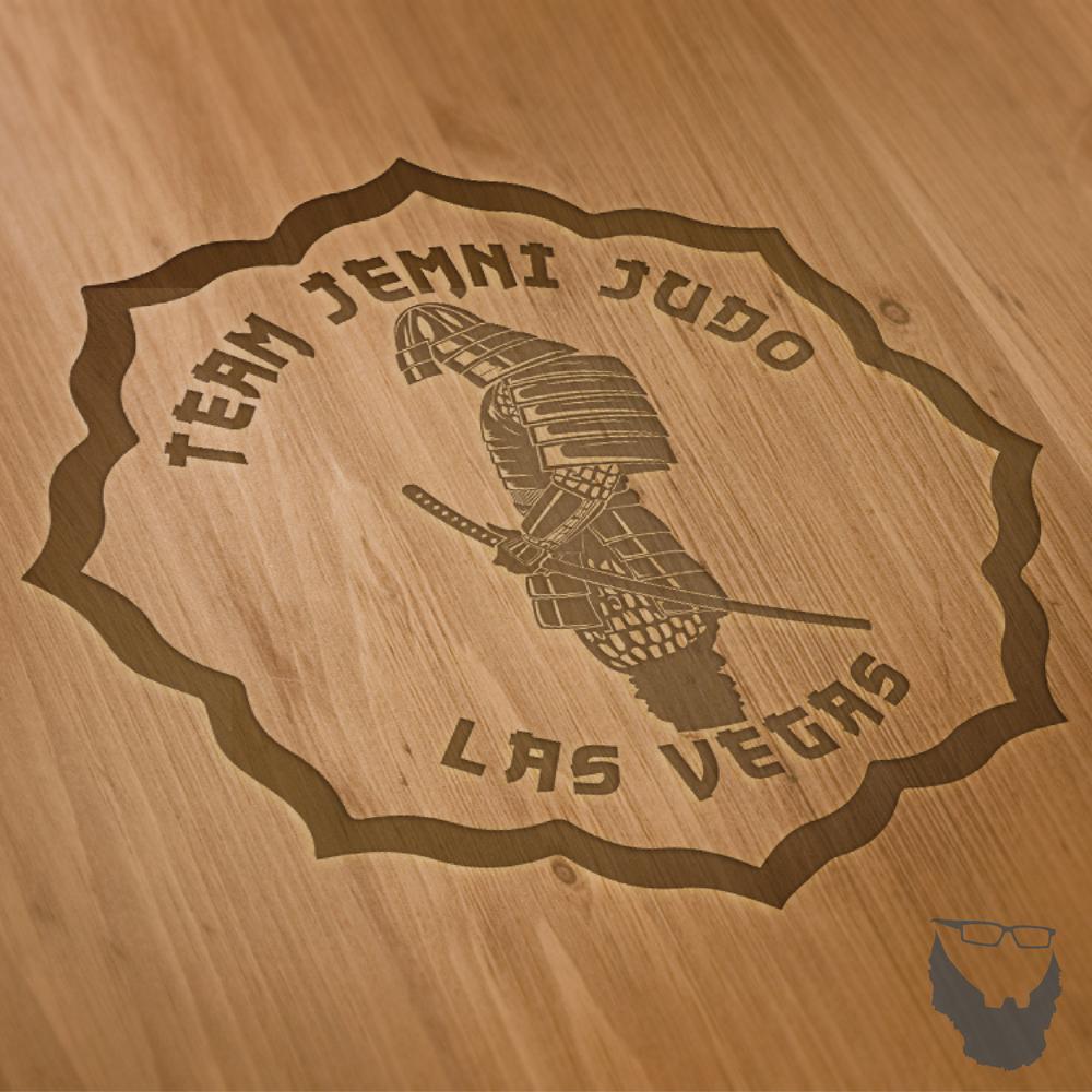 Logo Wood Mock Up.