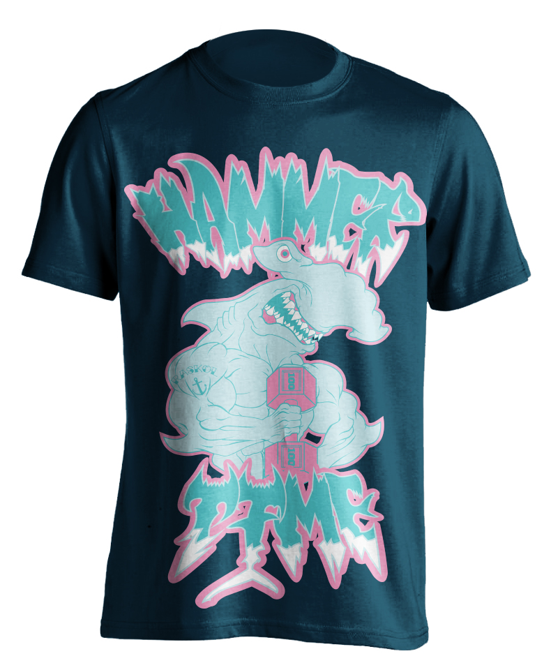 'HAMMER TIME DEEP SEA BLUE T-SHIRT'