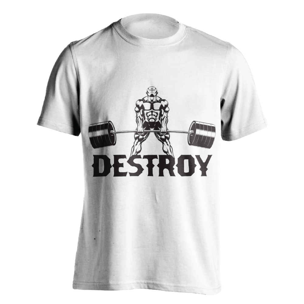 DESTROY WHITE T-SHIRT