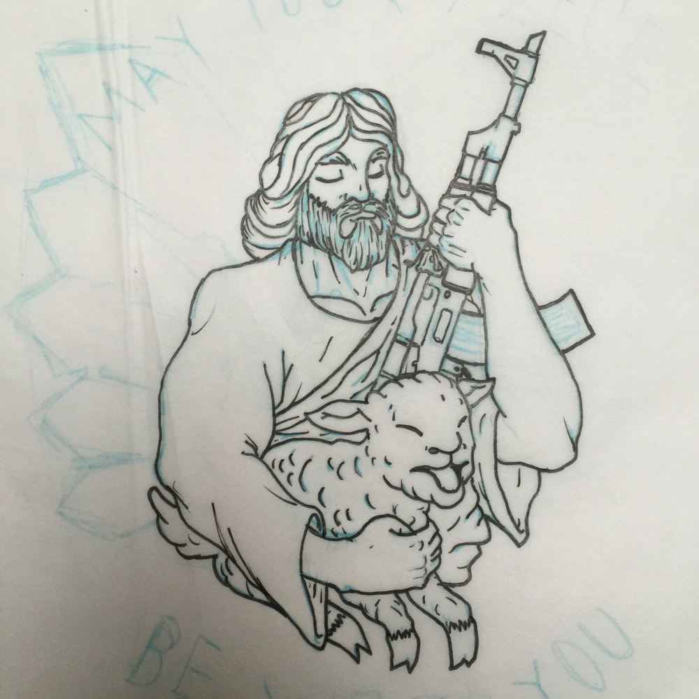 AK-Jesus rough sketch