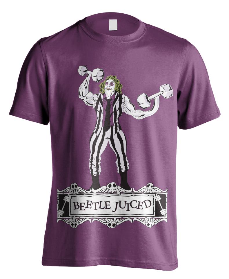 beetlejuiced-raskol-apparel-omar-isuf-roberto-orozco-design-artist-illustrator-vector-art-beetle-juice-michael-keaton-purple-shirt