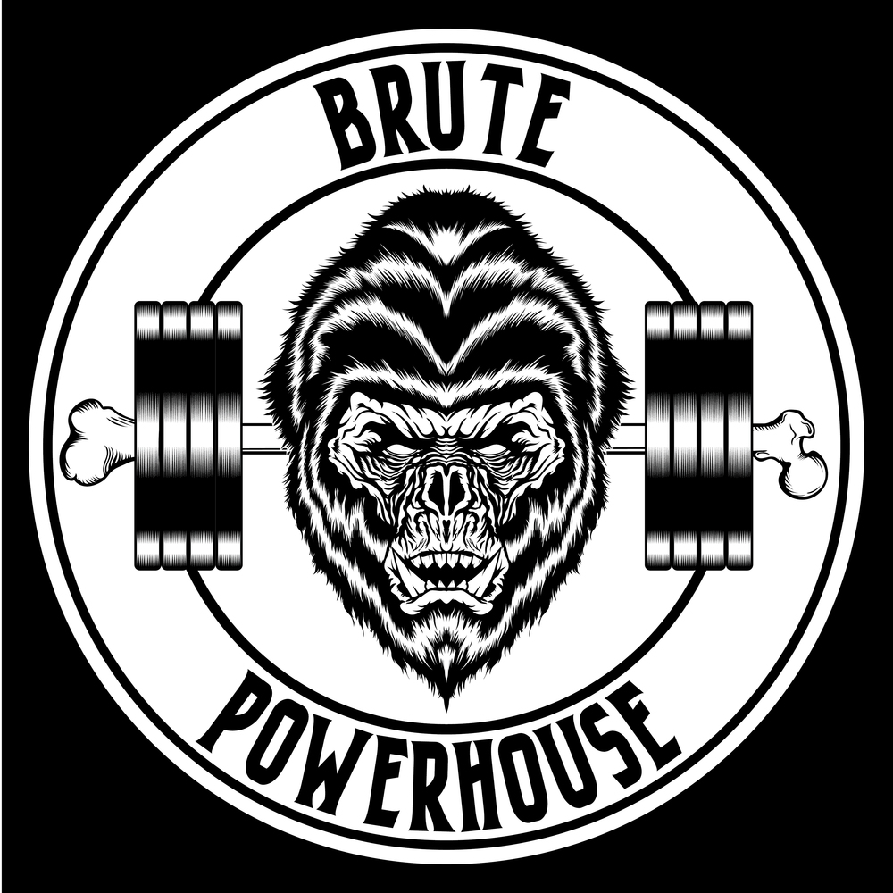 brute-powerhouse-illustration-logo-adobe-illustrator-vector-art-artist-gorilla-monster-ape-savage-gym-crossfit-powerlifting-roberto-orozco-design-graphic-designer-black-white-circle-logos-1