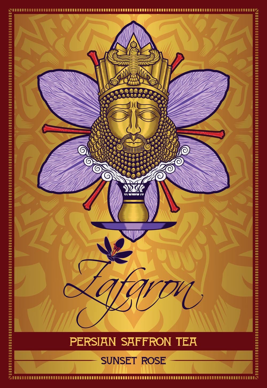 zafaron-iran-persian-king-cyrus-saffron-tea-flower-art-artist-roberto-orozco-design-studio-illustration-vector-vectorart-digital-digitalart-tea-packaging-label-graphicdesign-graphicdesigner-draw-sketch-labeldesign-gold-purple-red-yellow-front-sunset-rose-flavor-.jpg