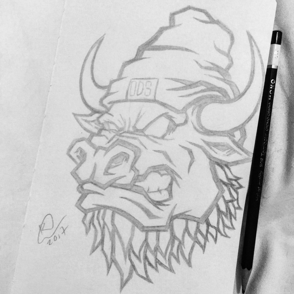 orozodesign-ox-bearded-beast-red-vector-illustration-roberto-orozco-artist-pencil-sketch.jpg