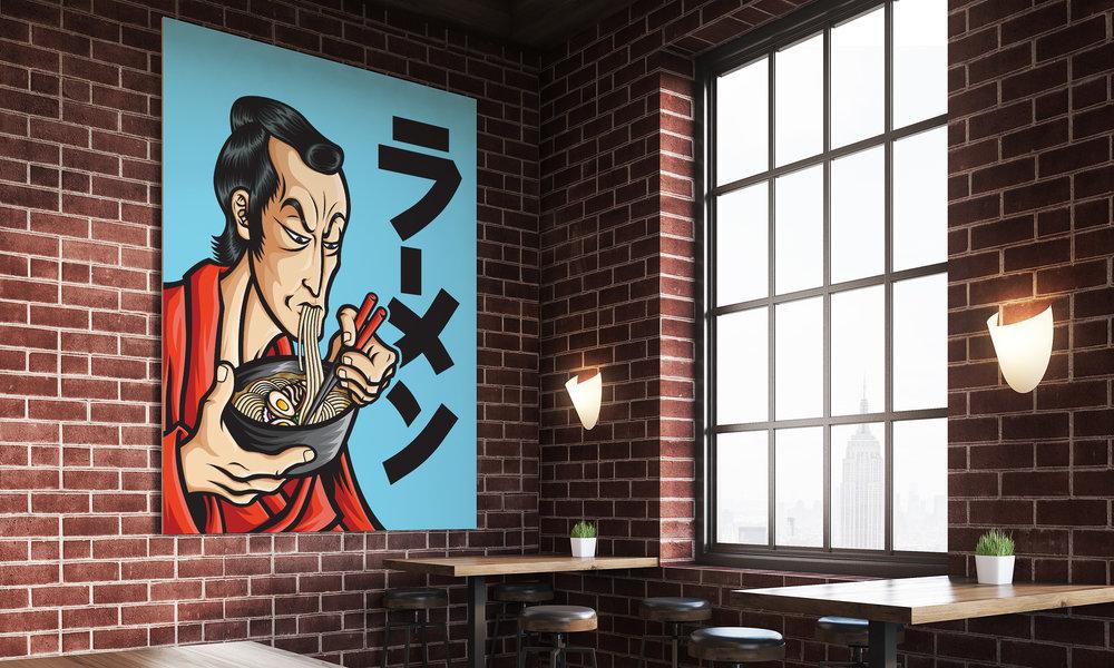 orozcodesign-stickermonster-RamenSamurai-RestauranMock.jpg