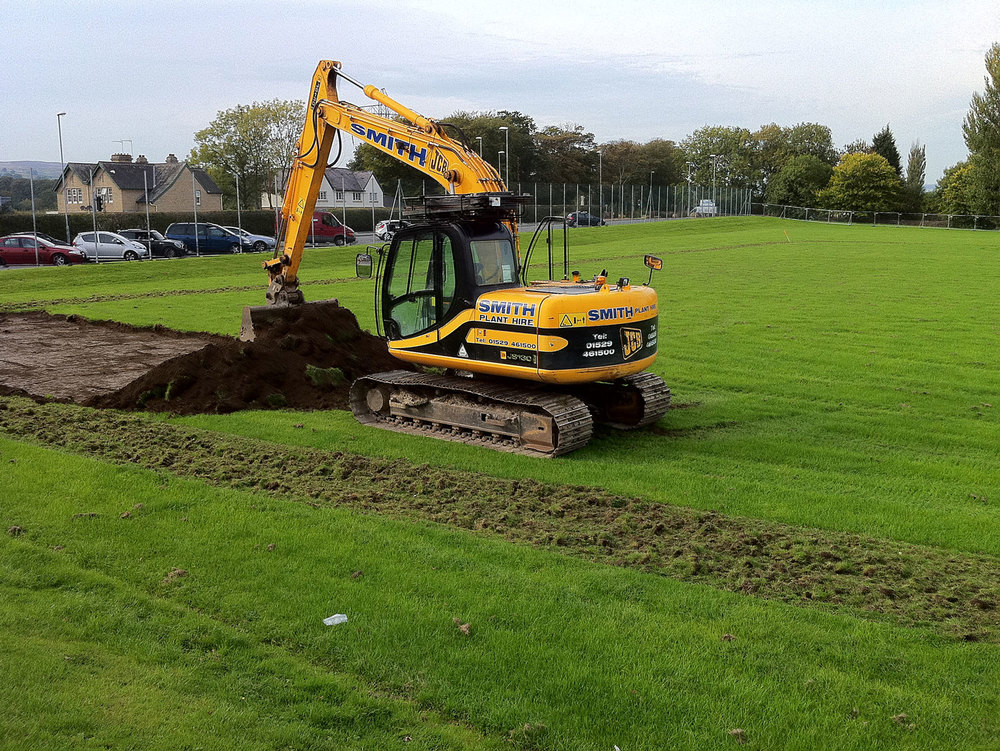 Work begins on new pitch, 2010