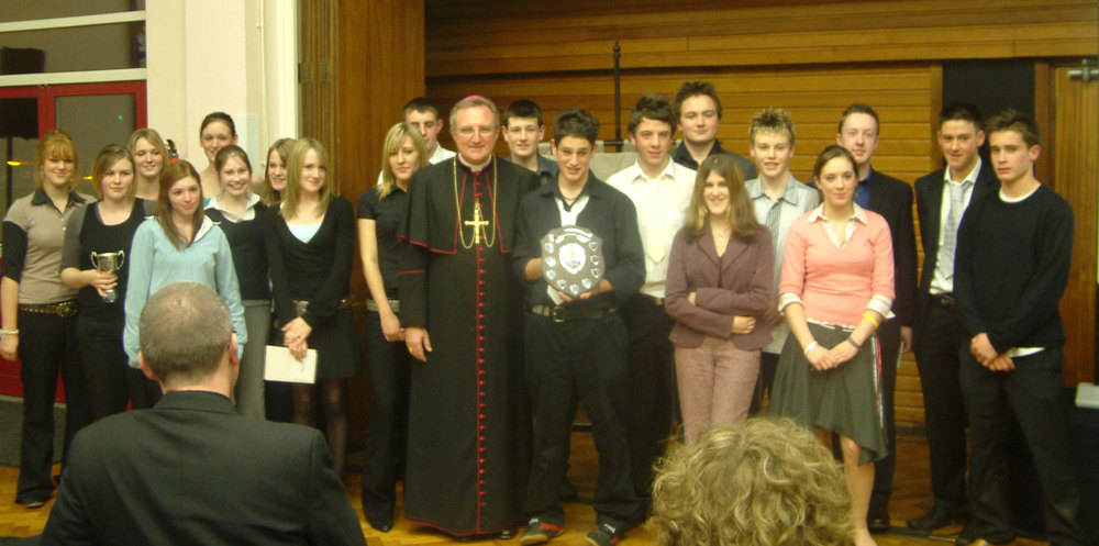Photo: Bishop Arthur Roche visited St. Mary's on our Year 11 Awards Evening, 23 November 2004