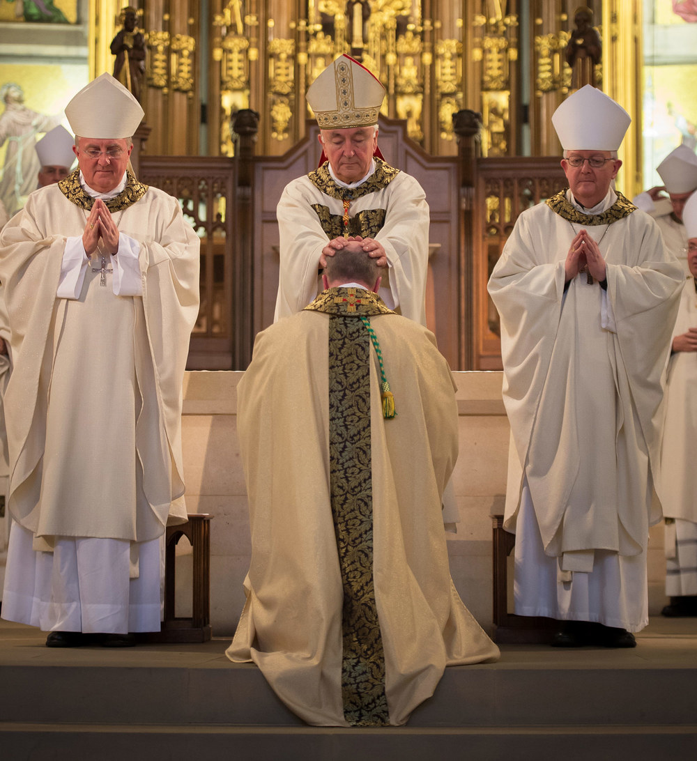 Photo: The Ordination and installation of Mgr Marcus Stock as the tenth Bishop of Leeds on Thursday 13 November, 2014. All present gave expression to their joy at the occasion with long and loud applause when Bishop Marcus was led to the Cathedra, the bishop's throne.