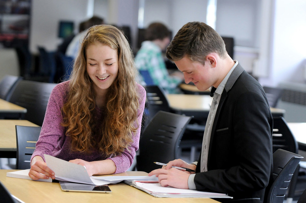 Photo: Sixth Form students studying