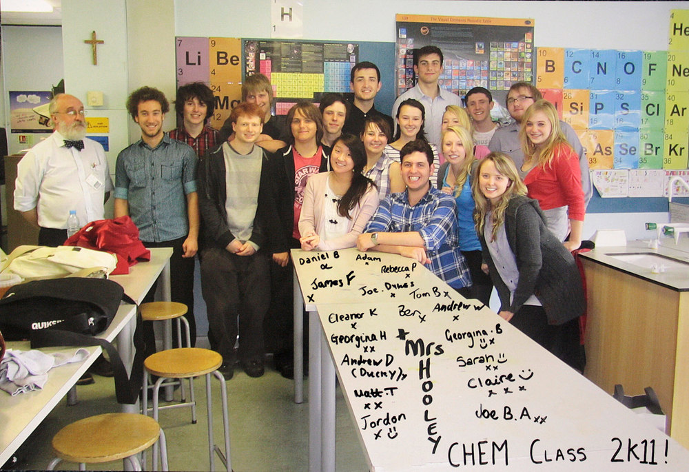Photo: St. Mary's Menston Chemistry Class 2011