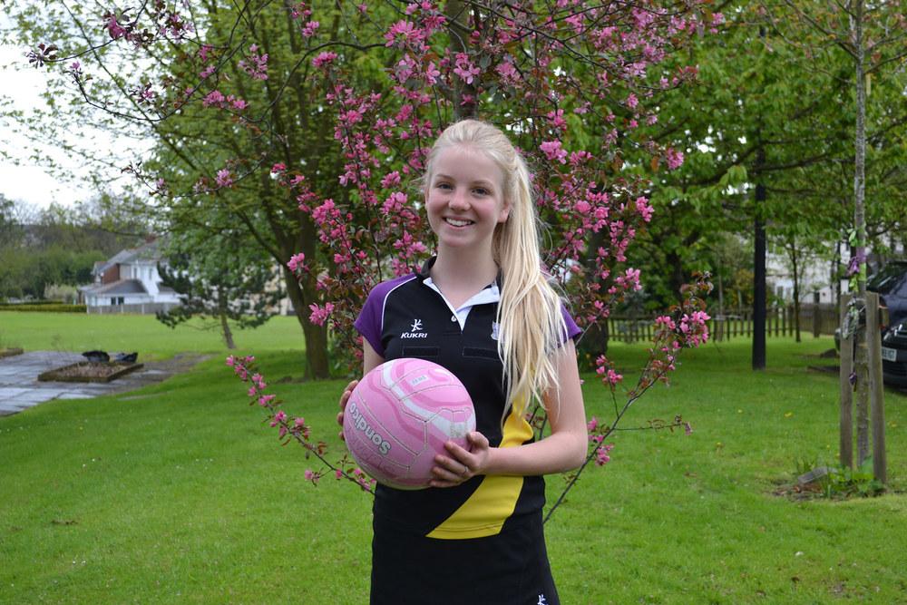 Photo: Netball Honour – Evie Malir, St. Mary's Menston Memorial Garden, 7 May 2015