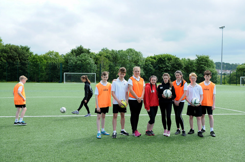 St. Mary's pupils enjoy using the pitch during their PE lessons.