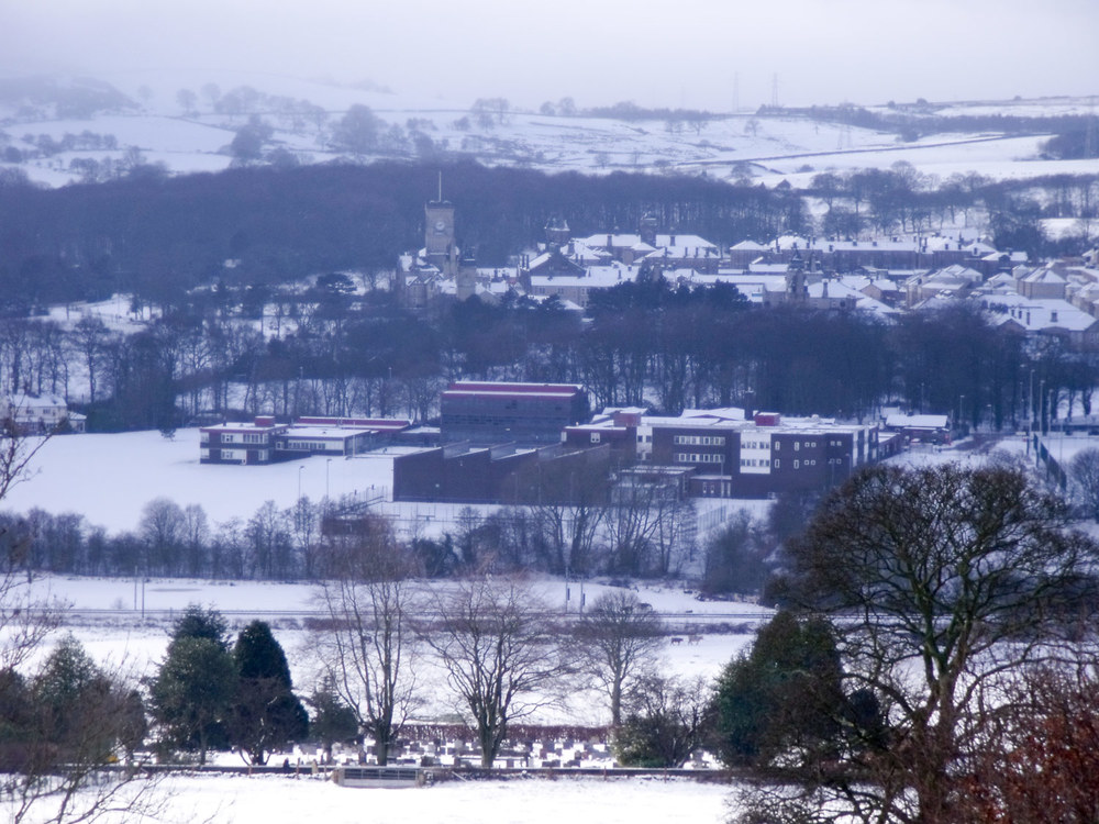 Photo: St. Mary's Menston school campus in the snow, 2012. Photo by J Ash.